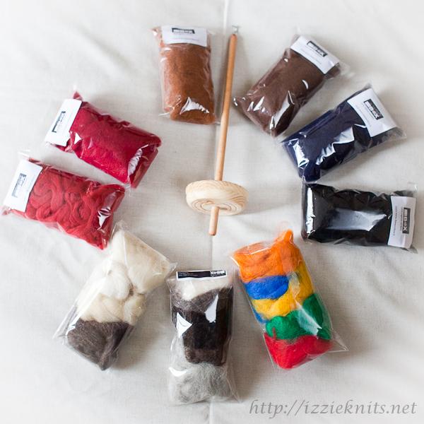 Kit laine cardée anglaise The wool Box